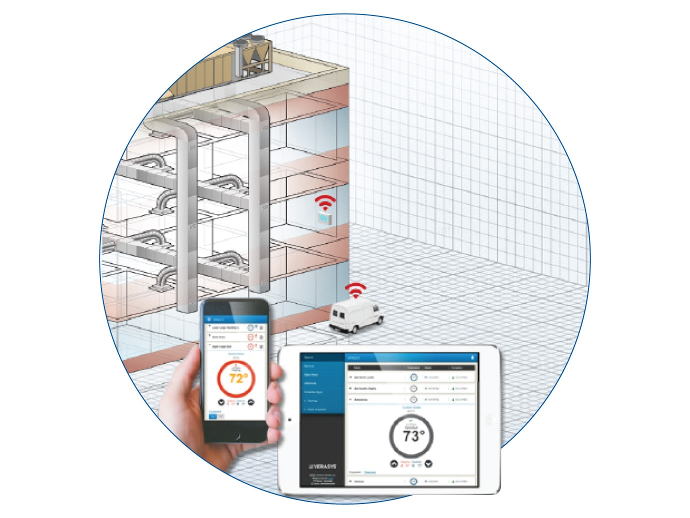 A Mobile Access Portal (MAP) gateway providing access to a YORK packaged rooftop unit via a smart device.